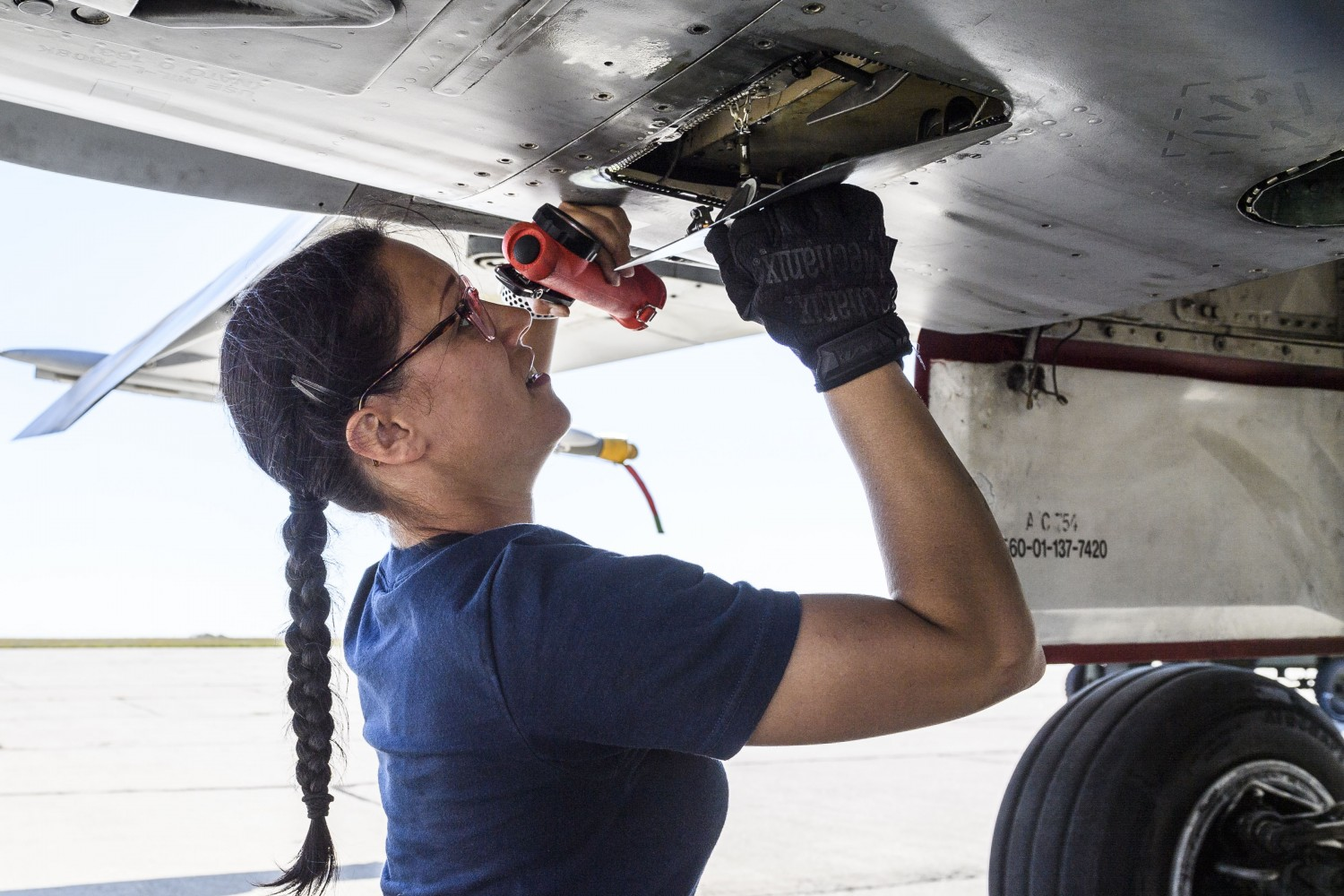 Contemporary woman military aviation mechanic Canadian Women in Aviation